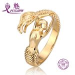 Open Rings For Women Sterling <b>Silver</b> 925 Fine <b>Jewelry</b> Gold Color France Les Nereides Mermaid Ring Party Accessories Romantic