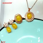 KJJEAXCMY boutique jewels 925 <b>silver</b> inlaid with natural topaz female pendant ring <b>earrings</b> with three sets of necklaces.
