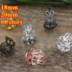 100pcs Cabochon 18mm,20mm Round Pad ring blank Cameo Tray,Bronze/Gold/Silver Ring setting,<b>Handmade</b> DIY Zakka <b>jewelry</b> Finding