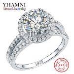 Big Sale Fashion <b>Jewelry</b> Ring Have S925 Stamp Real 925 <b>Sterling</b> <b>Silver</b> Ring Set 2 Carat CZ Diamant Wedding Rings for Women R510