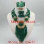 Lovely Purple Single African Women Beads <b>Jewelry</b> Set Nigerian African Beaded Necklace Set <b>Handmade</b> Style Free Shipping SC501-1