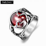 Round Design Ring,Punk Style Titanium & Corundum Fashion <b>Jewelry</b> For Men Dress <b>Accessories</b>