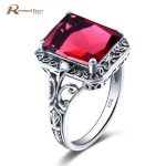 Bulgaria <b>Jewelry</b> for Women Ruby Stone Crystal Ring Wedding Set Real Pure 925 Solid Sterling Silver Vintage Party Ring <b>Handmade</b>