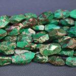 Kindgems Emperor Imperial Green Beads Gems Stone Beads Strand 15″/Diy For <b>Jewelry</b> <b>Making</b> for Women Freeform Cut Shape Smooth