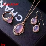 KJJEAXCMY Fine jewelry, 925 <b>silver</b> pink chalcedony ladies three-piece suit