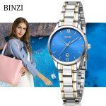 BINZI Watch Womens Clock Women Quartz Fashion Simple Steel Lady Watches relogio feminino female <b>Silver</b> <b>Bracelet</b> Wristwatch 2018