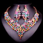Fashion Bridal <b>Jewelry</b> Sets Wedding <b>Necklace</b> Earrings For Brides Party costume Accessories Indian jewellery Decoration for Women
