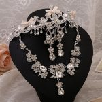 2016 new fashion necklace tiara bridal <b>jewelry</b> sets three-piece wedding <b>accessories</b> rhinestone bridal <b>jewelry</b> sets wholesale