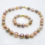 RUNZHUQIYUAN 2017 100% natural freshwater pearl choker necklace <b>bracelet</b> 10-12 MM Pearl 925 sterling <b>silver</b> For Women Best Gift