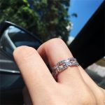 New Brand Fashion Hollow out Chain painting full SONA Diamond Ring Wedding <b>Jewelry</b> Sparkling 925 Sterling <b>Silver</b> Rings For Women