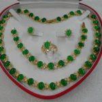 Prett Lovely Women's Wedding women's <b>jewelry</b> green gem gem yellow Earring Bracelet Necklace Ring +box 5.27 -silver-<b>jewelry</b>