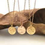 Personalized Hammered Coin Necklace <b>Handmade</b> Custom Rose Gold Choker 10mm Pendant Collier Femme Kolye Collares <b>Jewelry</b> Riverdale