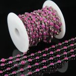 6mm Rose Red Glass Flat Round Beading <b>Supplies</b> Chain,Lampwork Bead Plated Silver Wire Wrapped Link Coin Chains Chamilia Bracelet