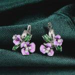 RainMarch Silver Enamel Flower Earrings For Women Engagement 925 Sterling Silver Earring Bohemian <b>Handmade</b> enamel <b>Jewelry</b>