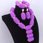 New Statement <b>Necklace</b> Set Purple Big Balls Design With Gold Copper Alloy Beads Bridal Set <b>Jewelry</b> Free Shipping 2018 Fashion