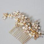 Jonnafe Gold Flower Wedding Hair Comb <b>Jewelry</b> <b>Handmade</b> Bridal Hair Piece Accessories Charming Women Headpiece