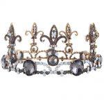 Baroque Vintage Men Diadem Large Crystal Full Round Prom King Crown <b>Wedding</b> Pageant Queen Tiara Bridal Hair <b>Jewelry</b>