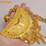 Anniyo Very Big Africa Pendant Necklaces for Women Gold Color Ethiopian/Nigeria/Congo/Sudan/Ghana/Arab <b>Jewelry</b> #098506