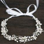 High Quality <b>Handmade</b> Freshwater Pearls Headband Wedding Headpieces Bridal Wedding Hair Accessories Tiara Hair <b>Jewelry</b>