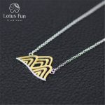 Lotus Fun Real 925 Sterling Silver <b>Handmade</b> Designer Fine <b>Jewelry</b> Creative Mountain Necklace with Pendant for Women Collier