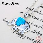 New arrival cute animal elephant beads pendant chain necklace with growing love heart enamel 925 silver <b>jewelry</b> <b>making</b> for gifts