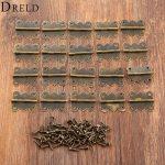 DRELD 20Pcs 20*25mm Mini Butterfly Door Hinge Antique Bronze Cabinet Drawer <b>Jewellery</b> Box <b>Decorative</b> Hinges Furniture Hardware