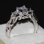 Size 5-11 Vintage <b>Jewelry</b> 925 Sterling Silver Three Stones Princess Cut Women Engagement <b>Wedding</b> Band Gold Ring for Love gift