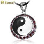 925 Sterling <b>Silver</b> <b>Necklace</b> Chinese Tai Chi Yin Yang Fish Gossip Pendant <b>Necklace</b> Amulet Men's Jewelry Yin Yang <b>Silver</b> <b>Necklace</b>