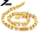 7SEAS GP Gold Color Fashion Chain Necklace For Men Bangle Luxury 50cm Length Men <b>Jewelry</b> Necklace Wholesale Fast Shipping JM436