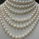 Hot sale new Style >>>LONG AA+ 8-9MM White Akoya Cultured Pearl Necklace Rope Chain Beads <b>Jewelry</b> <b>Making</b> 100inch