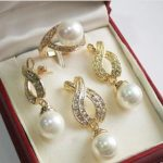 Pretty Women's Wedding shipping>12mm White Pendant Necklace Earrings Ring Set silver-<b>jewelry</b>