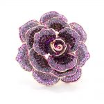 Purple Rhinestone Crystal Rose Flower Wedding Bridal Brooch Pin Broach For Woman <b>Jewelry</b> <b>Accessories</b> FA5066PUR