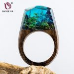 DANZE Magic Wooden Ring For Women Secret Forest Resin Inside World Wood Finger <b>Jewelry</b> <b>Accessories</b> Dropshipping Supplier Gifts