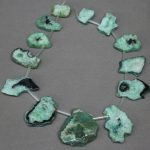 Wholesale 13pcs Green Drusy Necklace Pendant, 2017 Freeship Druzy Geode <b>Jewelry</b> <b>Making</b> Slice Pendant Necklace accessories