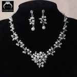 Hot Sale Pearl Bridal <b>Jewelry</b> Set Big Prom Party <b>Accessories</b> Pearl Necklace Earrings Set For Brides Women Wedding <b>Jewelry</b> Sets