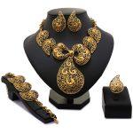 wholesale Exquisite Dubai costume <b>necklace</b> set Luxury Pure gold -color Nigerian Wedding African Beads <b>Jewelry</b> Set Costume Design