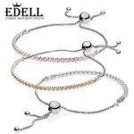 EDELL 100% 925 standard Sterling <b>Silver</b> Charm SPARKLING STRAND GIFT SET Bangles for Women Sterling <b>Silver</b> Jewelry Original