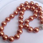 Hot sale free shipping 12mm shell simulated-pearl necklace round beads high grade charming <b>jewelry</b> <b>making</b> 18inch BV448