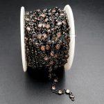 WT-BC091 <b>Fashion</b> Amazing Gun black Brass Chain CZ Micro Pave Chain For Women <b>Jewelry</b> Making Cubic Zircon Accessory 3mm