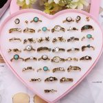 Wholesale 12/36/50/100pcs Mixed Assorted <b>Antique</b> Gold Crystal Rings Kids Girls Child Ring Party Gift <b>Jewelry</b> With Display Box