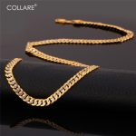 Collare Two Tone <b>Jewelry</b> Sets For Men Gold/Silver Color Wholesale <b>Accessories</b> Curb Link Chain Bracelet Necklace Sets S155