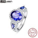 Wedding Brand Tanzanite Ring 925 Solid Sterling <b>Silver</b> Fashion <b>Jewelry</b> new 2016 Unique Design For Women luxury brand With Box