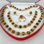 Women's Wedding women's <b>jewelry</b> tiger's eye gem yellow Earring Bracelet Necklace Ring +box 5.27 real silver-<b>jewelry</b>