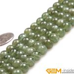 AAA Grade 7-8mm Round Green Apatite Beads Natural Stone Beads DIY Looose Beads for <b>jewelry</b> <b>making</b> Wholesale !