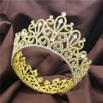 Beauty contest Large Crown Tiara <b>Wedding</b> Headdress Ornament Luxury Big Diadem Queen tiaras and crowns hair <b>jewelry</b> accessories