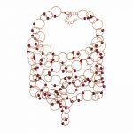 New Fashion Colorful Braided Strand Necklaces & Pendants Women Facted circle Beaded <b>Handmade</b> Statement Necklace <b>Jewelry</b> Collier