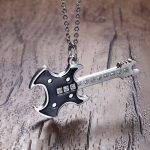 Men's Electric Guitar Pendant Necklace Rock Punk Male Stainless Steel <b>Jewelry</b> <b>Accessories</b> Collares Collier Colar gargantilha