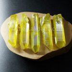 WT-G129 Stylish yellow quartz point raw material crystal quartz point crystal quartz point for women <b>jewelry</b> <b>making</b>