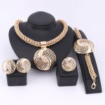 <b>Handmade</b> Dubai Gold Color <b>Jewelry</b> Sets Over Gild Fashion Big Nigerian Wedding Bridal Bijoux African Costume <b>Jewelry</b> Sets