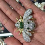 top quality insect bee brooch pins pendant double use 925 <b>sterling</b> <b>silver</b> with cubic zircon fashion women <b>jewelry</b> free shipping